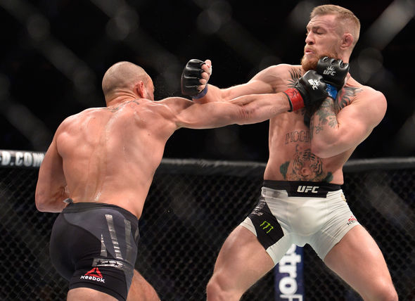 Conor McGregor in UFC action