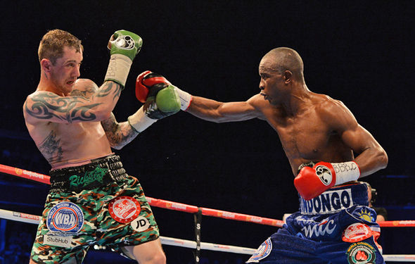 Boxers Ricky Burns and Julius Indongo