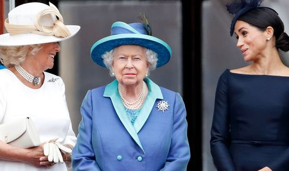 Duchess Camilla, the Queen and Meghan Markle