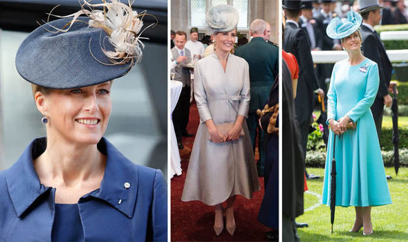 Countess of Wessex in various dresses