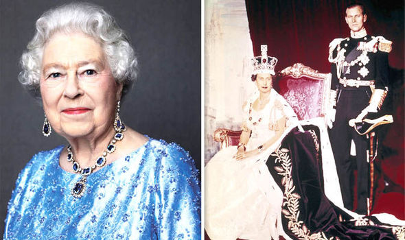 Queen Elizabeth II coronation and now