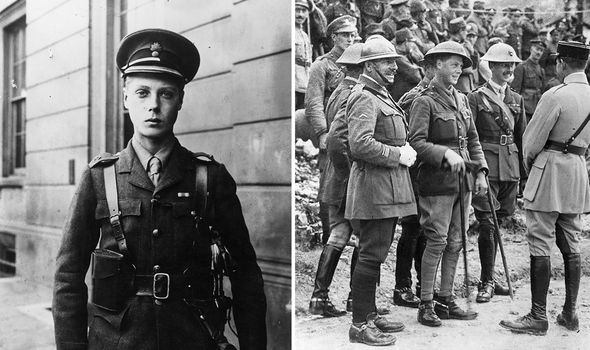 Edward -- later the Duke of Windsor -- in 1914 (L) and in 1918 (R) during active service