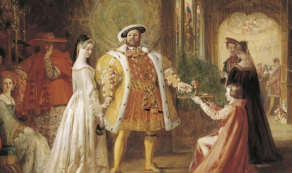 The courtship of Anne as depicted by an artist