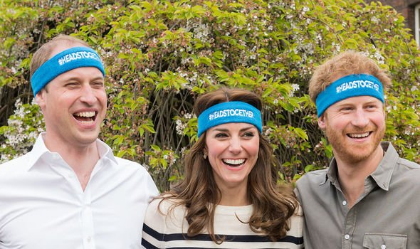 William, Kate and Harry campaigning for mental health in 2016 - before Harry met Meghan