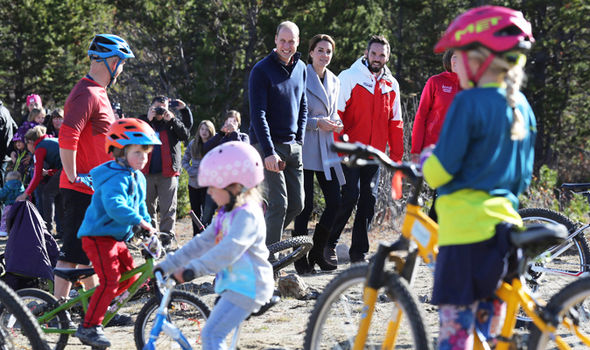Kate and William on cycling