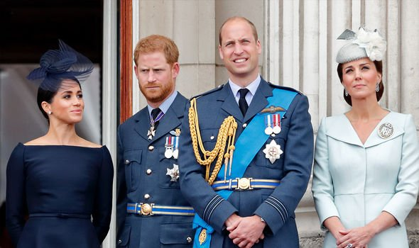 Meghan Markle, Prince Harry, Prince William and Kate, Duchess of Cambridge