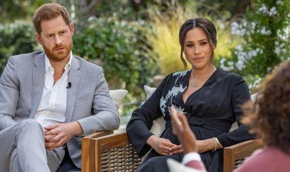 Meghan Markle and Prince Harry on Oprah