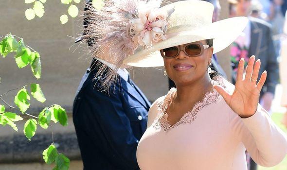 Oprah Winfrey at Meghan Markle and Prince Harry's wedding