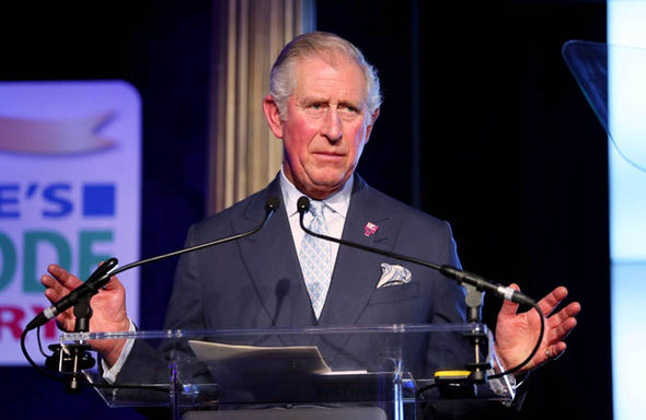 Prince Charles making a speech