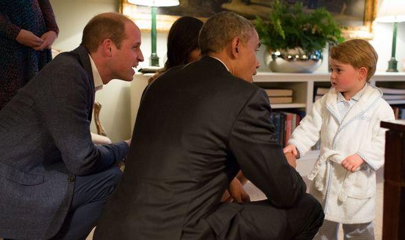 Prince George meets Barack Obama