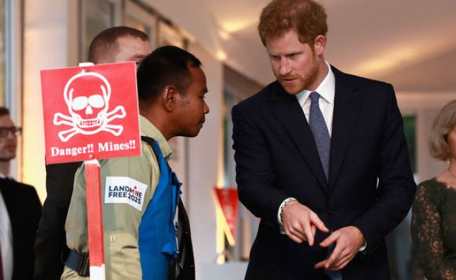 Prince Harry Vows To Rid World Of Landmines And Continue