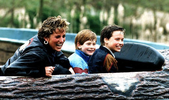 Princess Diana and Harry and William