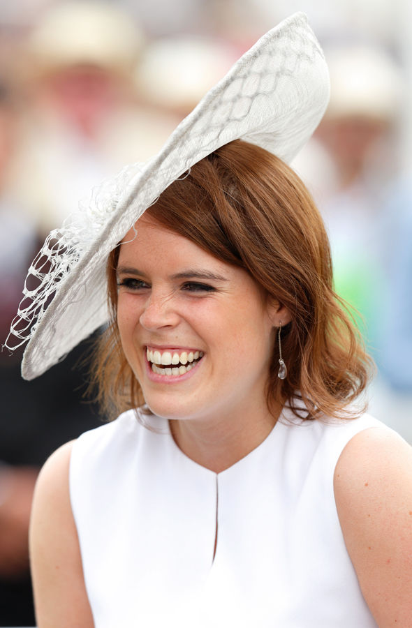 If The Crown Fits Princess Eugenie In Gold Paper Hat At