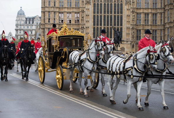 The Queen arrived in Diamond Jubilee State Coach