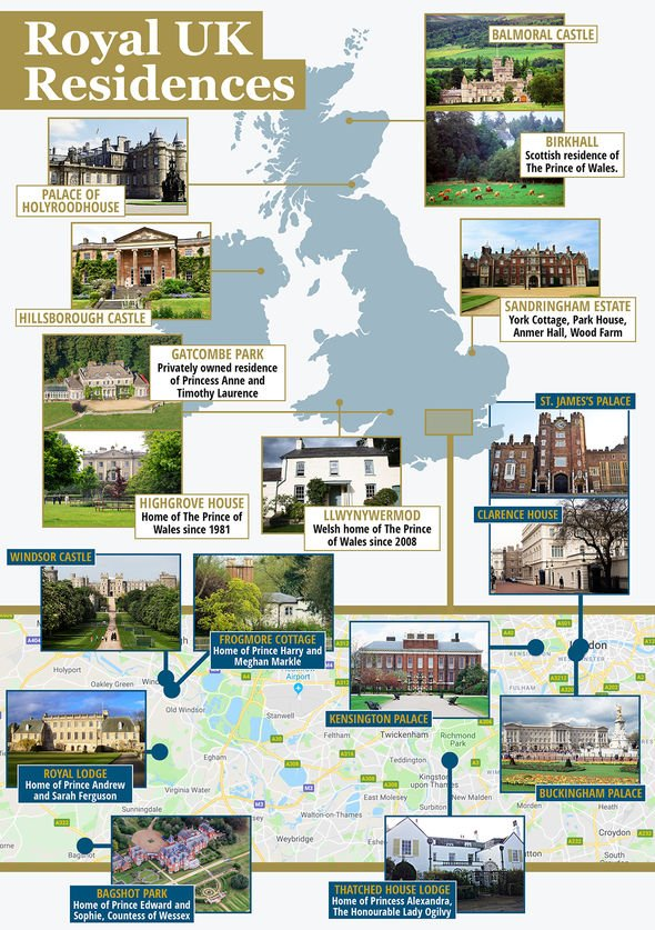 British royal residences