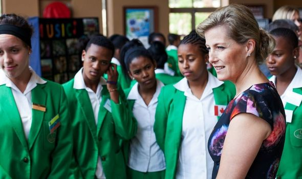 Sophie, Countess of Wessex at the Oprah Winfrey Leadership Academy for Girls