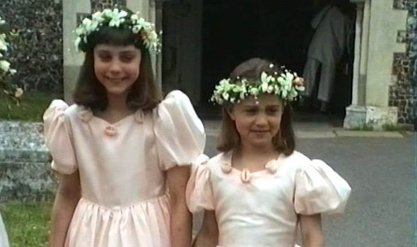 Catherine and Pippa looked very well behaved at Uncle Gary's wedding