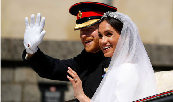 "The royal couple just married on their wedding at the start of this year ""title ="" The royal couple just married on their wedding at the start of this year"