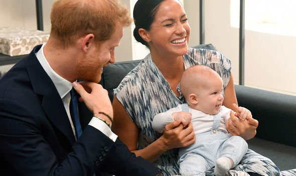 Prince Harry and Meghan with son Archie