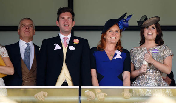 Jack Brooksbank and Duke and Duchess of York