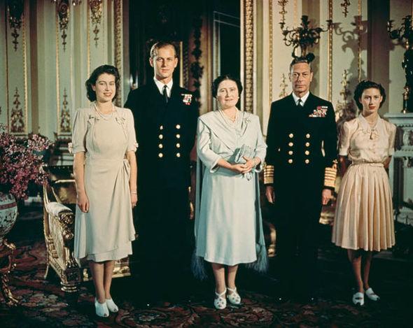 King George, Elizabeth and Philip