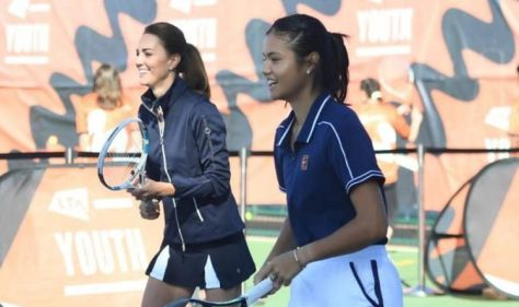 WATCH: Kate Middleton stuns as she joins Emma Raducanu for doubles 'She's good!'