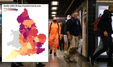 Covid deaths map: Staggering UK death rate where you live - map marks areas in BLACK
