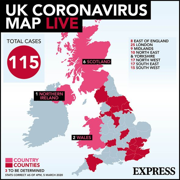 Coronavirus UK locations: Is YOUR area at risk? Confirmed ...