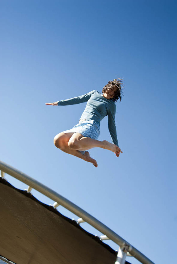 Exercising on a trampoline can prevent stress incontinence  Health  Life  Style  Expresscouk
