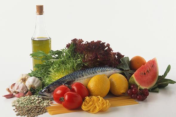 Fish, vegetables and Mediterranean ingredients