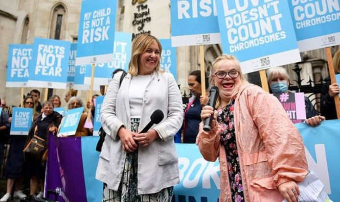 Down's Syndrome protester launch court fight over abortion law