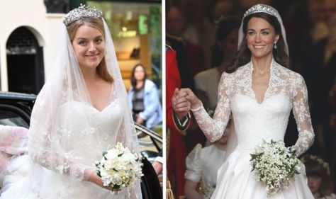 Princess Alexandra's granddaughter channels Kate Middleton in lace wedding gown & tiara