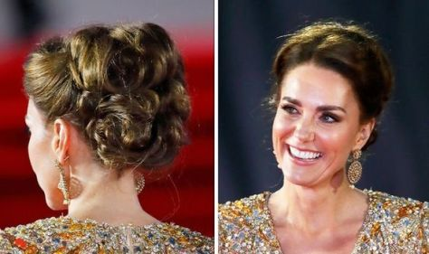 Kate Middleton's 'Bond Girl' updo - how to recreate James Bond premiere hair look at home