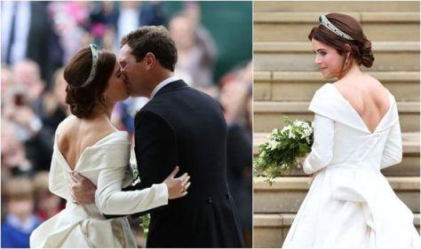 Princess Eugenie's wedding dress broke royal protocol to 'change the way beauty is'