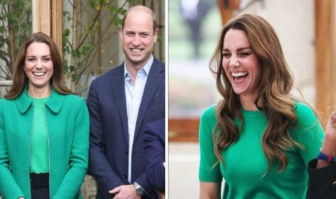 'Radiant!' Kate stuns in recycled £882 green coat during Kew Gardens visit