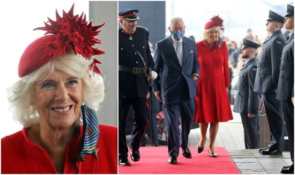 Duchess of Cornwall steals spotlight as she celebrates Wales with flamboyant red hat