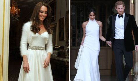 Second wedding dresses 'who they really are': Kate's 'sweet' while Meghan's 'far more her'