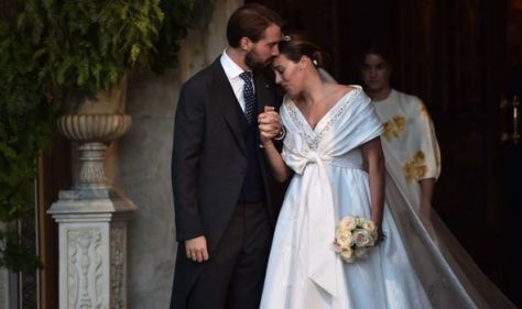 Nina Flohr wows in Chanel gown as she weds Prince Philippos of Greece in second ceremony