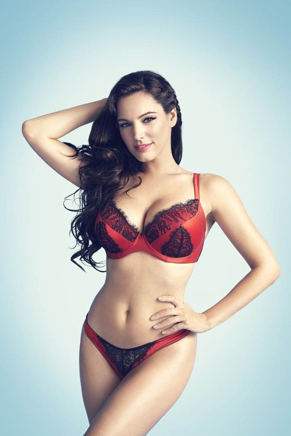 Kelly Brook Models Her Range Of Valentines Day Lingerie