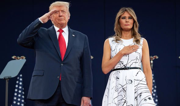 Melania Trump designer dress fourth of July