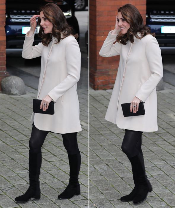 Unbelievable! Kate Middleton News: Pregnant Duchess Of Cambridge HIDES Growing Baby Bump In Large Coat