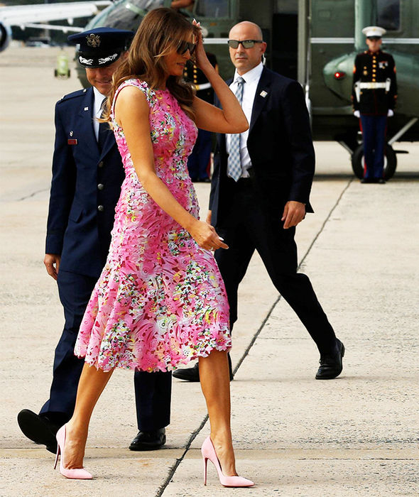 melania trump dress pink style fashion