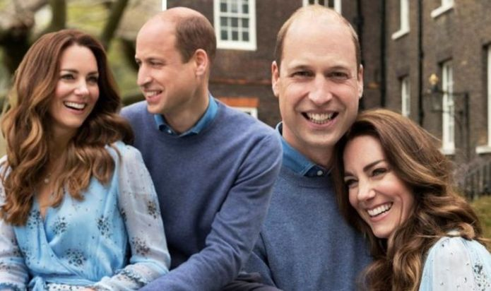 Kate and William cosy up in matching blue outfits to mark 10th wedding anniversary