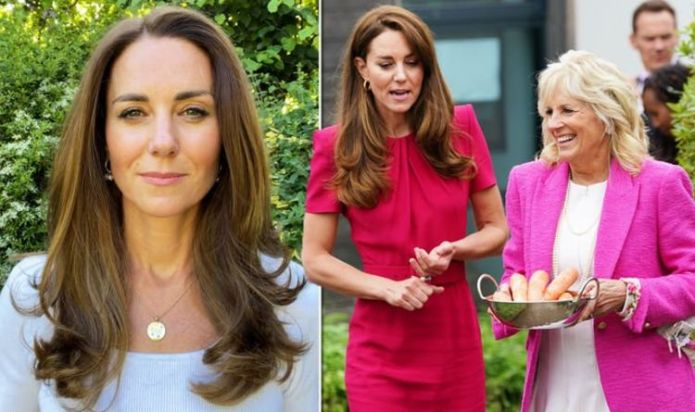 Family affair: Kate Middleton shows off £1,000 gift from William announcing royal project
