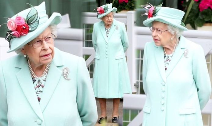 Queen Elizabeth wears mint coat & diamond brooch for first appearance at Royal Ascot 2021
