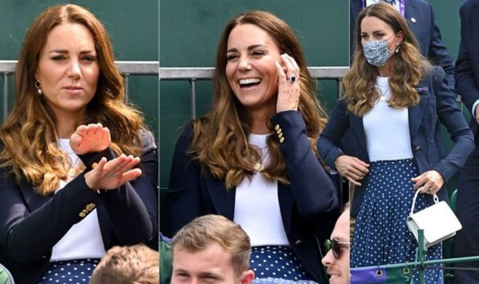 Kate Middleton wears £795 polka dot skirt for first appearance at Wimbledon 2021