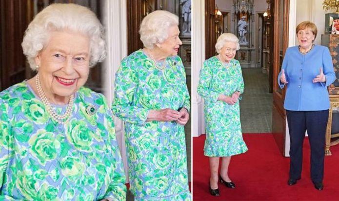 Queen Elizabeth gives nod to Germany wearing special emerald brooch to meet Angela Merkel
