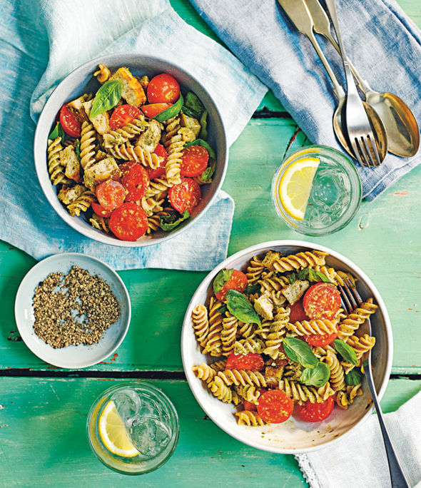 chicken and pesto pasta