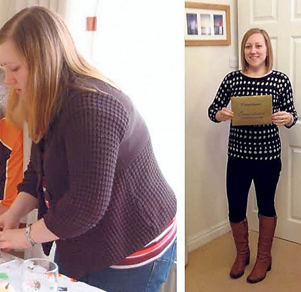 Before and after photo of Nicola