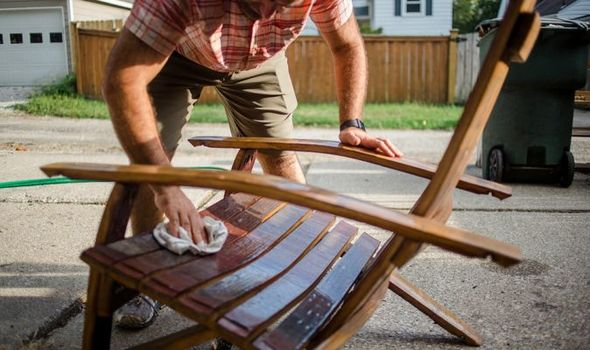 how to clean wooden patio furniture